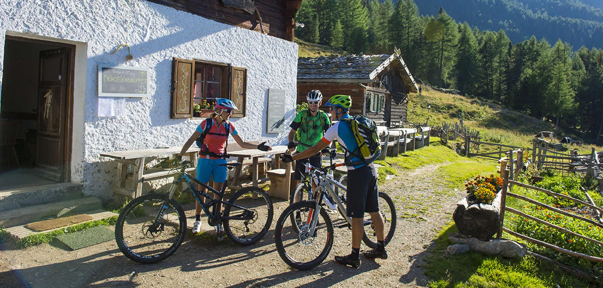 Mountainbike Ferien in Südtirol mit der Ötzi Bike Academy in Naturns