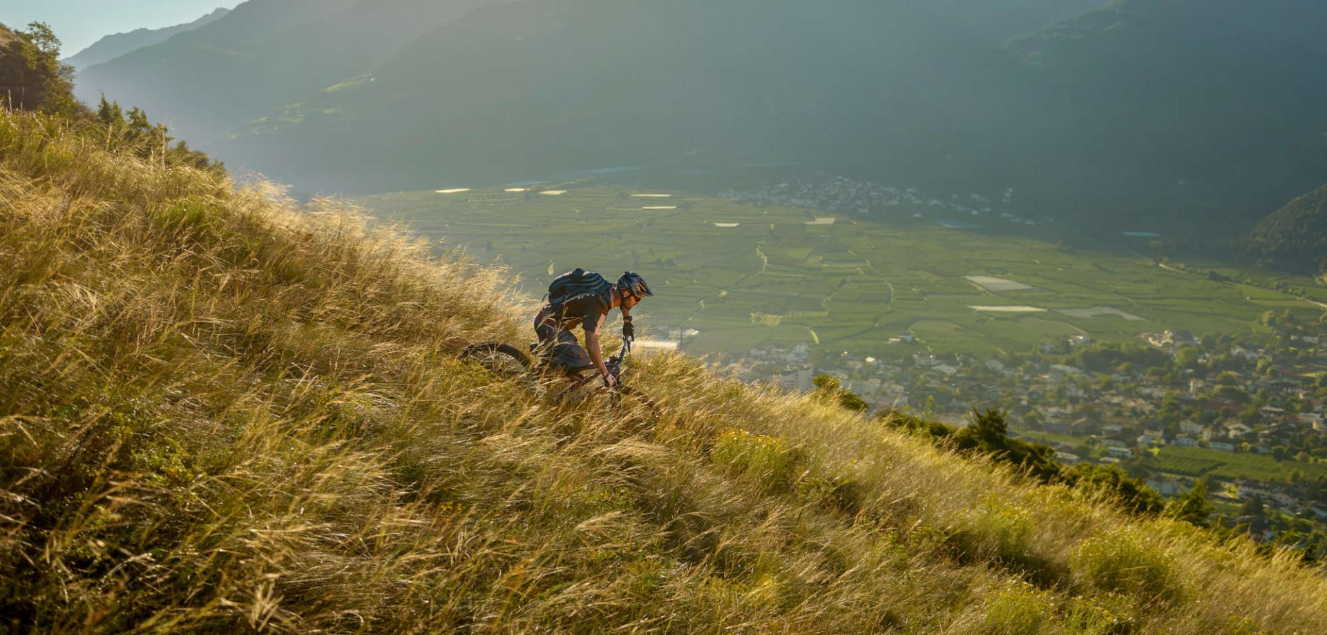The Monte Sole of the lower Val Venosta by E-MTB