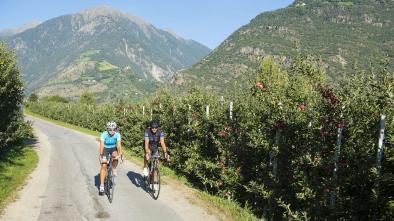 mappa bici da corsa: ciclabile Passo Resia - Ora