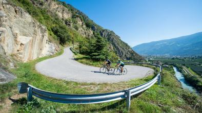 Rennradkarte Naturns nr. 17: Tschöggelberg – Salten Tour